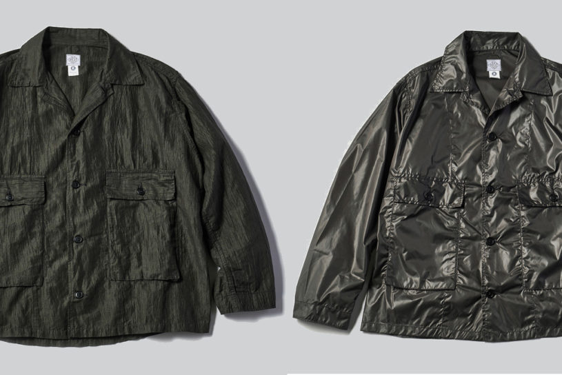 A fusion of two military items, and two unique materials! Post O'Alls classic JKT has evolved!