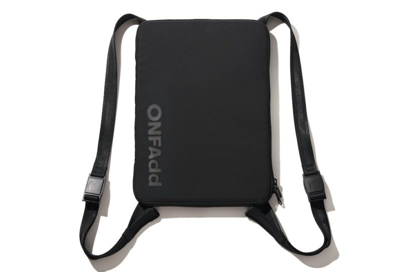 "A new PC bag from the up-and-coming brand ""ONF Add"" that can instantly transform into a desk for remote work!"