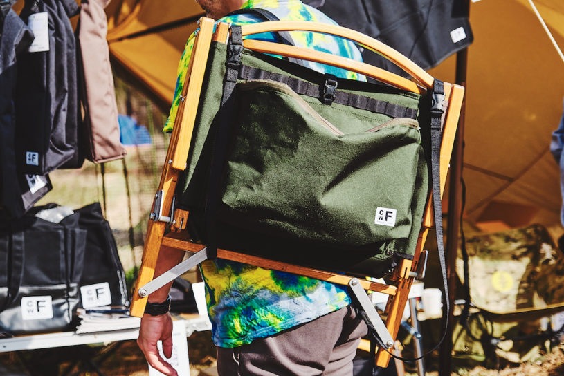 Kermit's backpack chair! CWF's innovative custom kit is perfect for camping at festivals!