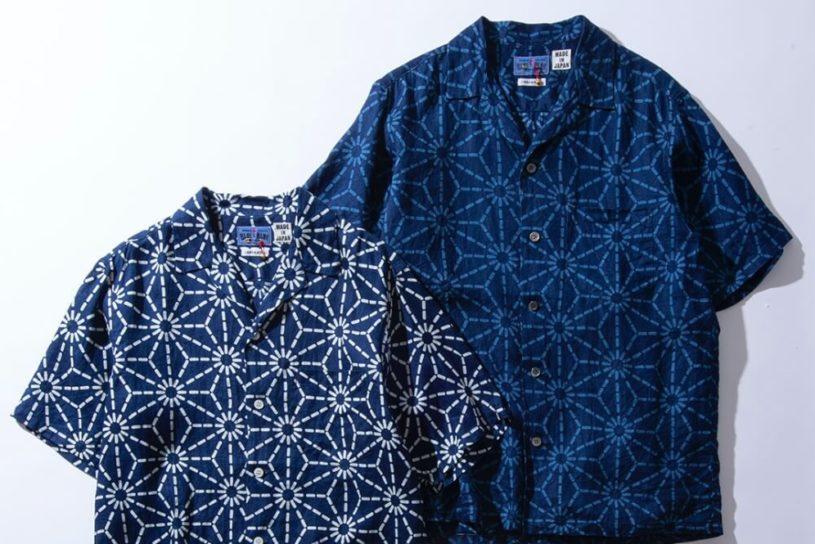 Blue Blue Japan's new Hawaiian shirt is uses Japanese style indigo dyeing.
