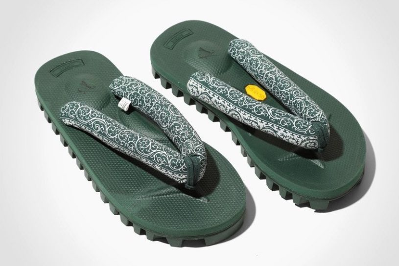 """The latest """"setta"""" traditional sandals from Needles and Suicoke. This season sees the debut of a new color with a plant motif!"""