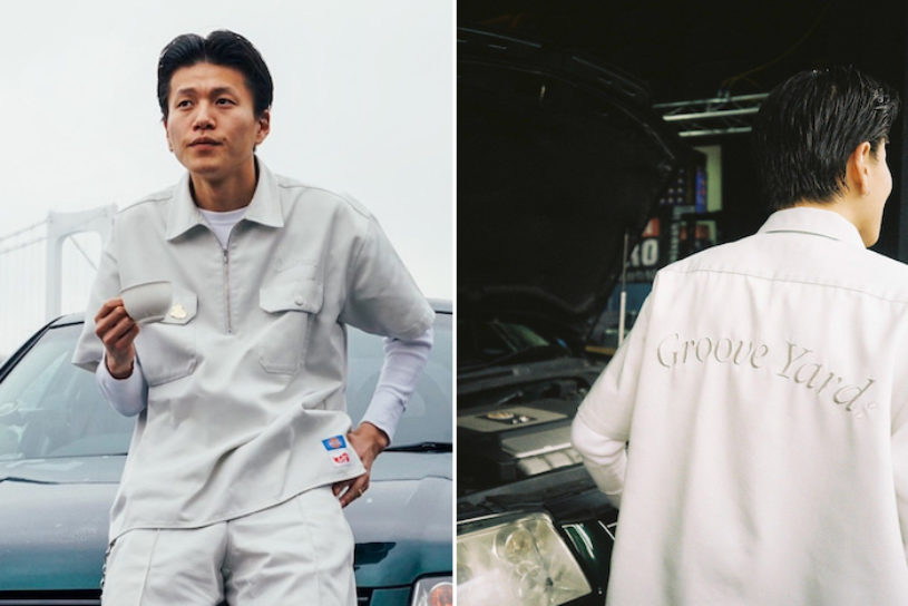 """An excellent work shirt co-created with Dickies by the up-and-coming car and fashion brand """"Car Service""""."""