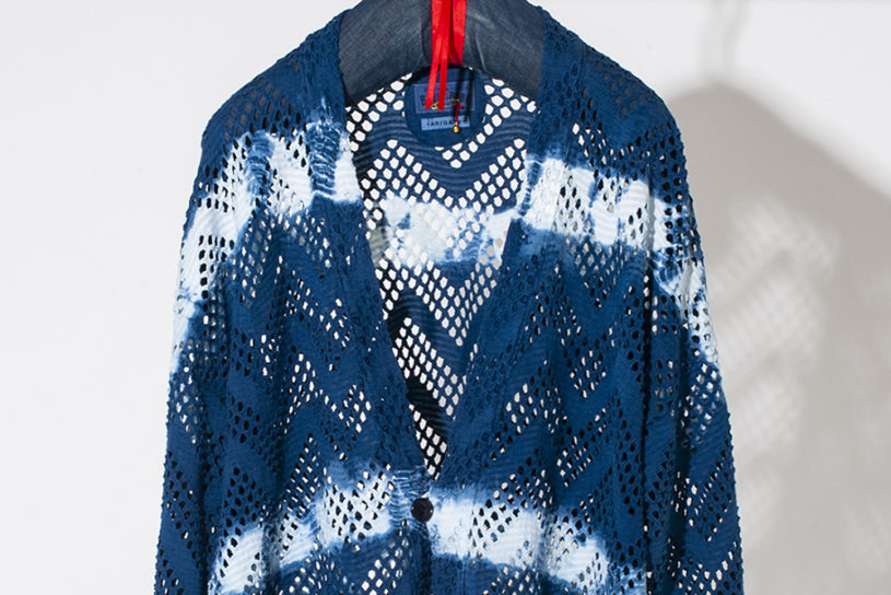 Blue Blue Japan's new cardigan is a features cooling mesh and craftsmen like Indigo dyeing for a stylish finish!
