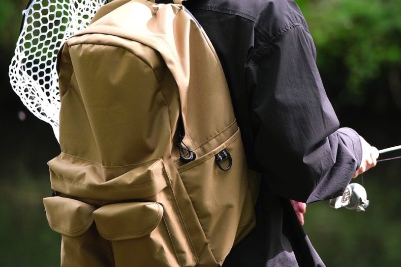 """New coyote color backpack from the popular fishing wear brand """"Connett""""."""
