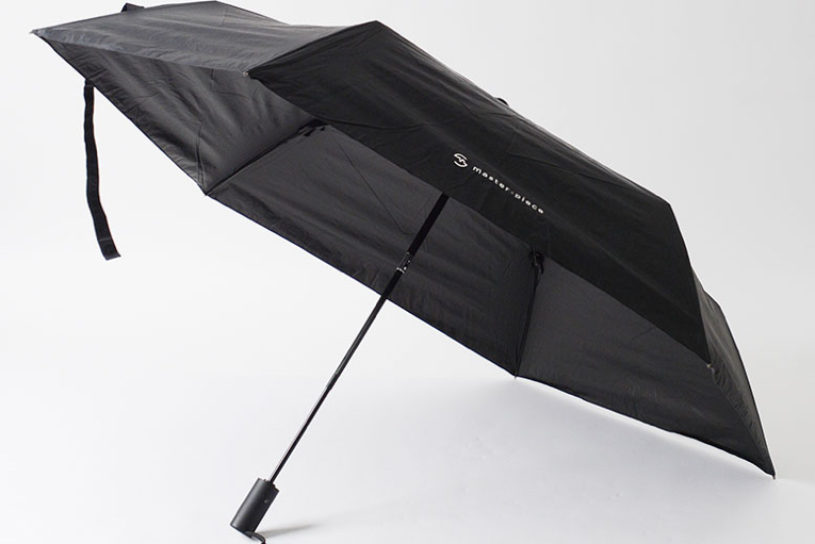 An umbrella with storage capacity? A unique umbrella is released from the bag brand Master-piece.