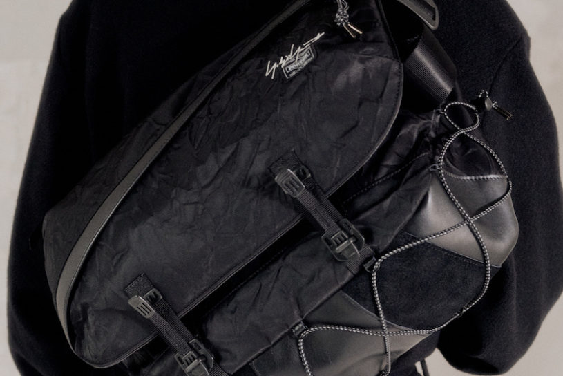 """Another massive collaboration between Yohji Yamamoto and Porter. A tough bag collection with added """"creases""""."""