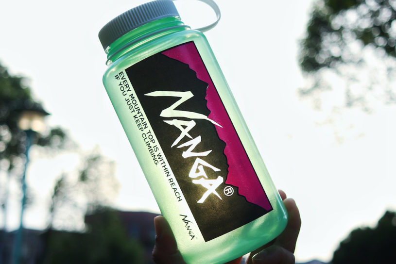 Nanga's collaborations don't stop! Next up is a special Nalgene bottle with a bold logo.