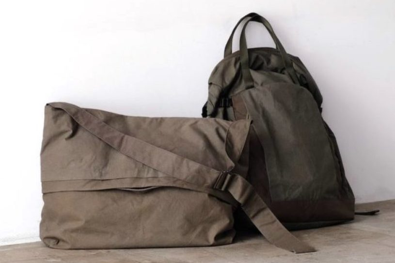"""Used military tents made into bags. Check out the bespoke items from the popular shop """"BLOOM & BRANCH""""."""