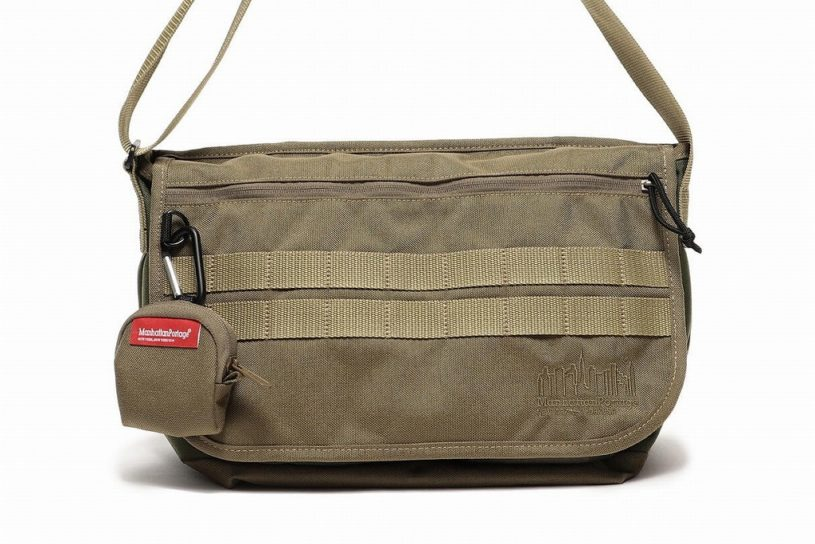 Manhattan Portage's classic messenger is made bespoke for BEAMS with a military look!