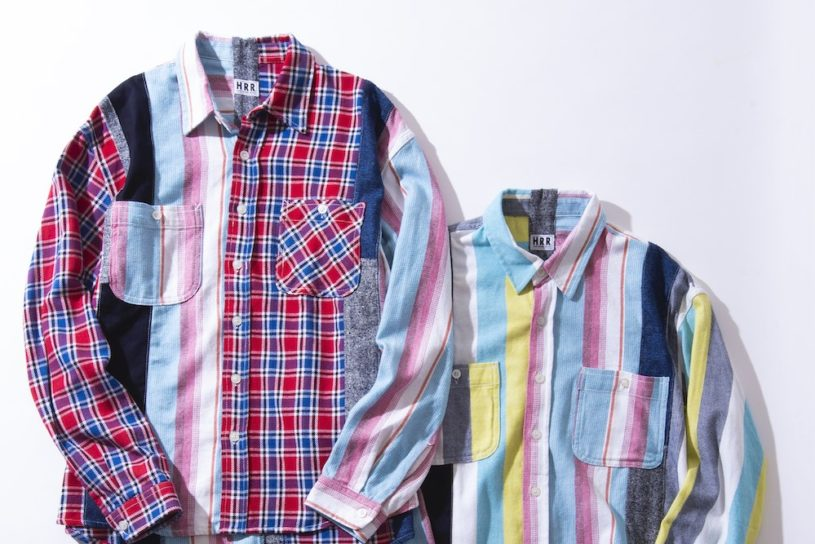 Fresh new patchwork shirts from H.R. Remake, a reconstruction of a high-quality flannel shirt.