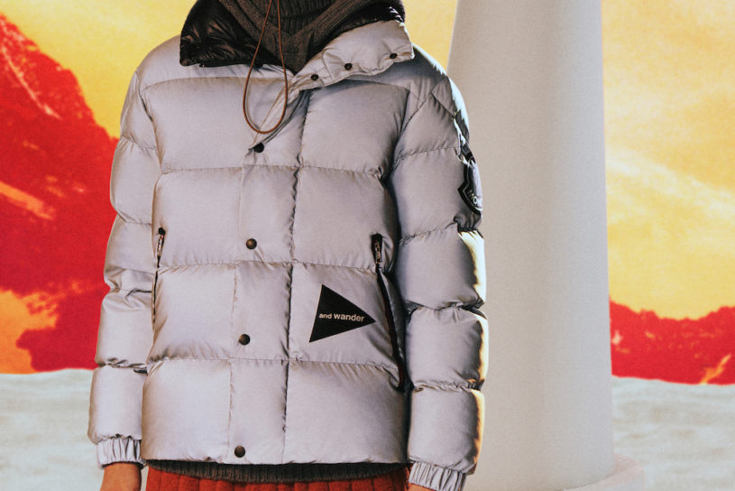 A collaboration between AndWander and Moncler is here featuring edgy premium wear released worldwide at the same time.