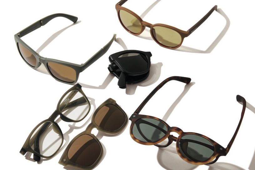 JINS and Snow Peak collaborate for the first time. Functional sunglasses that are great for camping!
