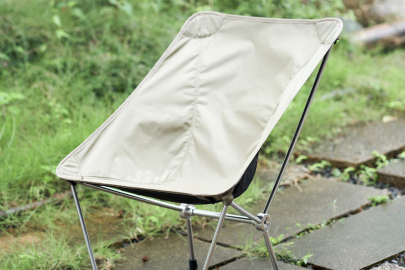 A two in one camp chair from Kamakura Tenmaku. A bespoke product with a minimalist design.